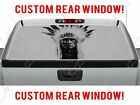 Native American Indian Headdress Perforated Vinyl Decal Rear Window Sticker