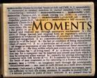 HERO ARTS rubber stamp MOMENTS BACKGROUND wood mounted