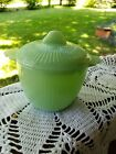 Vintage Fire King Jadeite Jadite Jane Ray Ribbed Sugar Bowl/ Lid Anchor Hocking