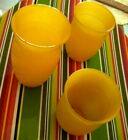3 of 1936 HAZEL ATLAS Fine Rib Platonite YELLOW TUMBLERS