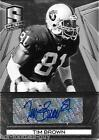RARE TIM BROWN SIGNED 2014 PANINI SPECTRA PRIZM CARD 16 25 PRO FOOTBALL HOF AUTO