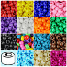 100x Opaque 9x6mm Barrel Plastic Pony Beads Made in the USA 27 Color choices