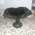 USED Vintage Black Amethyst Glass Glassware Dish Bowl 95