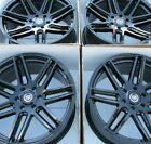 22 CADILLAC ESCALADE GLOSS BLACK WHEELS SET 4 BY VOGUE RIMS
