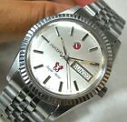 AUTHENTIC RADO PURPLE HORSE AUTOMATIC DAY DATE SWISS SILVER DIAL MENS RARE WATCH