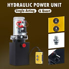 12 Volt Single Acting Hydraulic Pump for Dump Trailer 10 Quart Metal Reservoir
