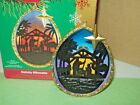 Nativity Silhouette Manger Scene Illuminates 78 2006 Carlton Ornament