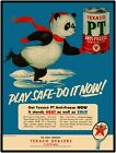 "Texaco PT Anti Freeze Vtg Look 9"" x 12"" Reproduction Aluminum Sign w Panda Bear"