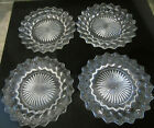 Vintage Set Of 4 Clear Glass Honey Comb 5