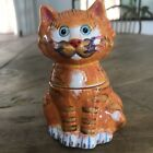 Ganz Bella Casa J Summer Jake Salt  Pepper Shakers Orange Tiger Tabby Cat 4