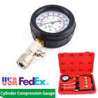 300 PSI Cylinder Compression Tester Petrol Engine Gauge Kit For Car Motorcycle