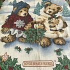 VTG Boyds Bears And Friends 97 Christmas Throw Tapestry Collectible Boyds Bears