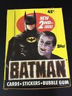 1989 TOPPS BATMAN TRADING CARDS WAX BOX - 36 Sealed Packs (9 cards + 1 sticker)