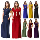 Womens Boho Long Maxi Casual Dress Evening Party Beach Dresses Summer Sundress