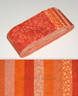 Jelly Roll Strips Shades of Orange Cotton Fabric 18 Strips 25 Wide X 44
