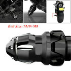 Black Universal Motorcycle Frame Engine Protector Ground Crash Slider Cap M10+M8