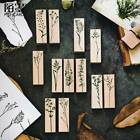 Vintage Plant Stamp Wooden Rubber Stamps Scrapbooking Diary DIY Craft Stamp