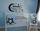 DREAM BIG LITTLE ONE VINYL WALL DECAL Nursery Wall Quote Wall Decal LETTERING