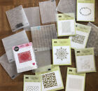 Retired Stampin Up Sizzix Embossing Folders Happy Hearts Country Floral petals
