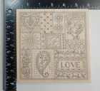 Outlines Rubber Stamp Co Love Hearts Shapes Flowers Leaves Rubber Stamp K702
