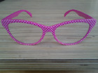 Pretty PINK with WHITE POLKA DOT READERS in +200 By Betsey Johnson +200