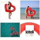 Loteli Heart Pool Float Large Red Emoji Floats for Adults Pool Party Bachelor