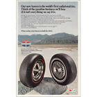 1968 Amoco Tire: World's First Radial Oval Tire Vintage Print Ad