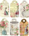 12 WOMEN MARIE ANTIONETTE REGAL HANG GIFT TAGS FOR SCRAPBOOK PAGES 24