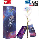 24K Gold Plated Galaxy Rose Valentines Day Gift to Girlfriend Wife Love Present