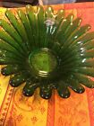 Cheerful BLENKO Green Sunflower Petal Bowl Century Modern Perfect CondItion