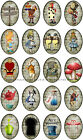 20 ALICE IN WONDERLAND OVALS STORYBOOK HANG GIFT TAGS FOR SCRAPBOOK PAGES 53
