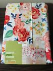 New Bright Bold Color Summer Floral Fabric Tablecloth Oblong 60 x 84