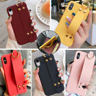 F Iphone 8 Plus 7 Plus XS Max XR Lovely Wrist Strap Girls Cute Phone Case Covers