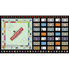 Monopoly Money Game Cotton Fabric Quilting Treasures Game Night 24X44 Panel