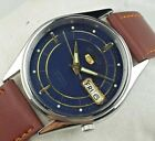 VINTAGE SEIKO 5 7S26A 21J  MEN AUTOMATIC JAPAN ORIGINAL DIAL WRIST WATCH D0501