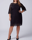 FLARE LINED LACE DRESS PLUS Sz 26