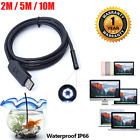 2m5m10m Hd Usb Endoscope Borescope 6 Led Waterproof Inspection Camera For Mac