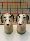 Vintage Dalmation Dog Heads  Salt  Pepper Shakers  Japan Made  Collectible