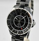 NEW Chanel J12 GMT Ceramic Automatic 38mm H3102 Black on Bracelet B