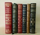 Franklin Library Lot of 6 Volumes of Classic French Literature Full Leather