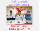 10 Made 2019 Topps 2 GOLD 5x7 Faces Honus Wagner Roberto Clemente Starling Marte