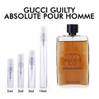 GUCCI GUILTY ABSOLUTE POUR HOMME MEN'S EDP 2ML 3ML 5ML 10ML DECANT SAMPLE SPRAY