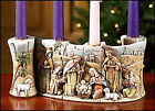 Nativity Scroll Advent Candleholder 10 L