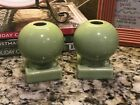 Fiesta Retired Chartreuse Green Round Bulb Candle Holders