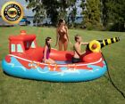Backyard Fire Boat Fun Kids Inflatable Lounge Water Wading Pool Novelty Sprayer