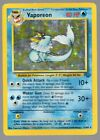 Vaporeon Jungle Set 12 64 Holo foil Rare Pokemon Card MP