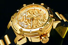 NEW Invicta Men 52MM BOLT DRAGON Automatic 18 K Gold Plated S.S Poly Strap Watch