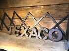 Cast Iron Texaco Sign Gas Pump Visible Oil Can Standard Fry Pump Gulf Exon Mobil