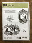 Stampin Up Retired WITCHES NIGHT Photopolymer Stamp set Halloween bats spider