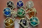 8 PCS REPRODUCTION GLASS FLOAT BALL WITH FISHING NET 4 PICK YOUR COLORS